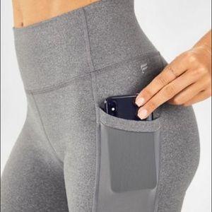 Fabletics compression bike shorts w/ phone pocket
